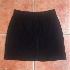 The Limited Velour Mini A-line Skirt Pockets Black